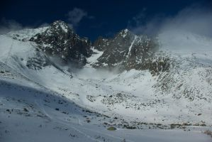 View from Skalnate pleso by minko2312