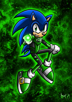 Green Lantern Sonic 2 by Berty-J-A