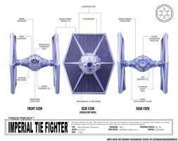 Papercraft Star Wars TIE-fighter schematics by ninjatoespapercraft