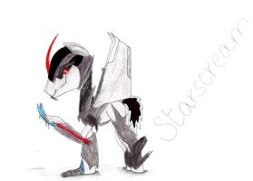 Starscream from Transformers: Prime as a pony by SpeedFeather