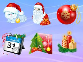 New Year Icons by FreeIconsFinder