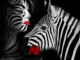 Zebra by babsartcreations