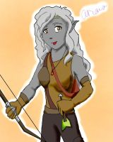 Ariana, Grey Elf Ranger by RedAlaina