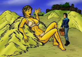finding a giantess in the haystack by TriffRaff