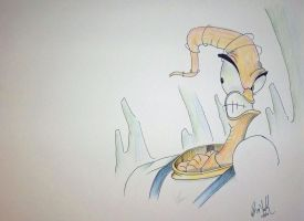 Earthworm Jim Hangout Drawing by CinderBlockStudios