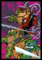 Spider-Man and the TMNT colours by mrbubbles2250
