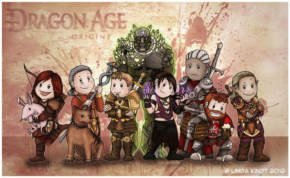 Dragon Age Origins: The Party by Isriana