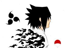 Sasuke curse mark by Tobi-to