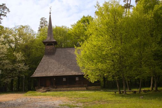 Maramures wooden church by Corsico