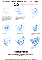 Feline Head Tutorial 2.0 by JustAutumn
