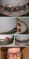 Brass and Bronze Mad Scientist Goggles by Windthin