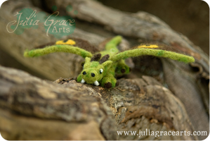 Lesser Earth Dragon - Wool Sculpture by JuliaGraceArts