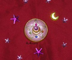 Sailor Moon R - manga, star brooch - locket by Bunnymoon-Cosplay
