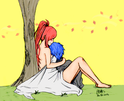 colored Erza and Jellal by EstelaBA