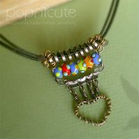 Rainbow Heart Silver Necklace by popnicute