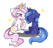 sleepy princesses by Lustrous-Dreams