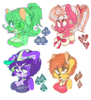 Card suit furry bust adoptables! [OPEN] by vomitcunt