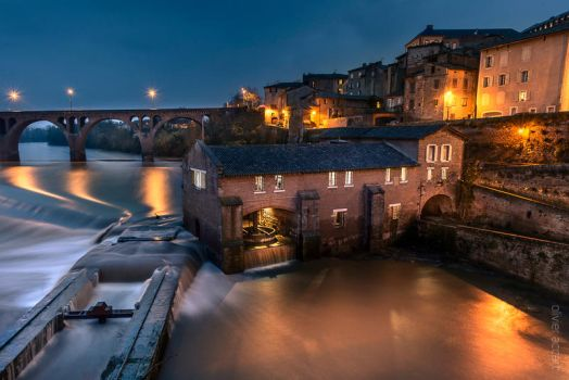 Mill at flood by OlivierAccart