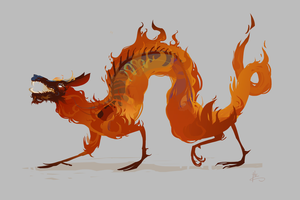 Fire Demon 1 by Nafah