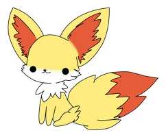 Chibi Fennekin Unfinished by GoldfishPope