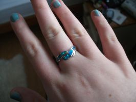 opal ring by UndertakerisEpic