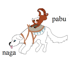 pic of naga and pabu and can be used as a base by webkinzfun8