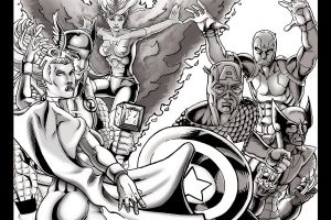 Marvel Group inks by thelearningcurv