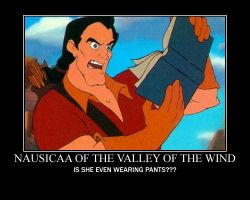 Gaston Reads Nausicaa by SilverLioness50
