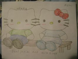 Dear Daniel and Hello Kitty :D by knucklesmega