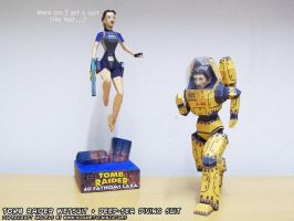 Tomb Raider papercraft wetsuit +Extreme Depth Suit by ninjatoespapercraft