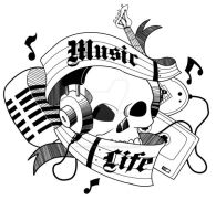 Music is Life Tattoo by Transformergirl