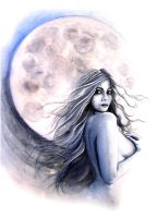 lady of the moon by alexandradawe