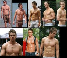 Robert Buckley SHIRTLESS collage 1 by slayerxy