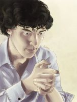 Sherlock portrait (color) by AzurLazuly