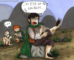 When Frodo snapped at last... by Deathlydollies13
