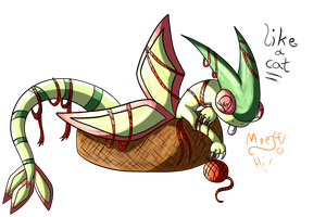 Flygon the kitty by NewMoon-Dragoness