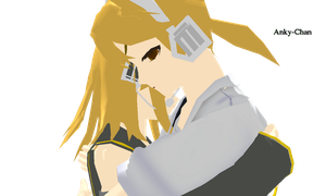 Rin and Len Sad Hug MMD by Anky-Chan