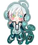:GIFT: Piko Vocaloid by Foxcollys