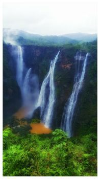 Jog Falls  by xXLittleTigressXx
