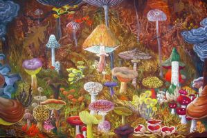 mushrooms by rodulfo