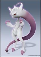 Mewtwo Eclair form (Pokemon X and Y) by Akiratang