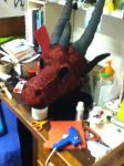 Red Dragon Initial Paint by Baramin-Fatalis