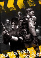 Leon Kennedy n Chris Redfield by Daphnecool