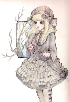Gothic Lolita Drawing by Sparkling-Dusk