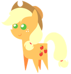 Applejack chibi by Diigii-Doll