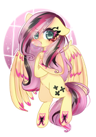 AG: Gothic Fluttershy  by WindyMils