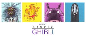 POST IT GHIBLI ONE by QuinteroART