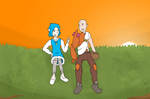 PokeDungeon: David and Claudia by Lion-Oh-Day