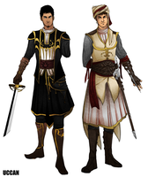 Altair and Malik, Prince AU by Uccan