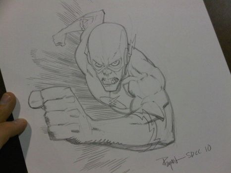 COMICON sketch Flash by RyanOttley